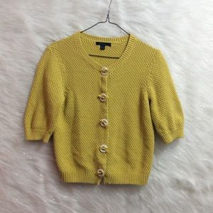 BODEN | chartreuse cardigan.